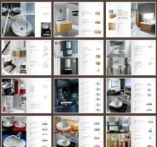 高档洗手盆宣传画册图片