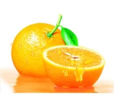 冒水的橙子图片