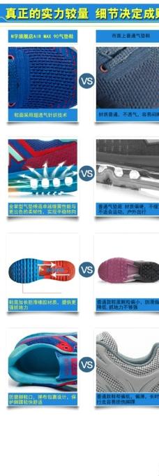 运动鞋子对比图图片