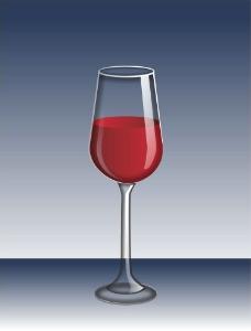 红酒杯矢量图图片