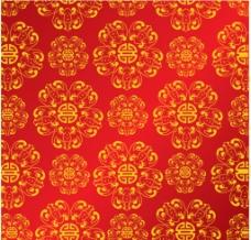 背景 红色 喜庆 花纹图片
