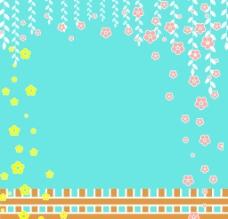 高清栅栏花卉壁纸墙纸 背景底纹图片