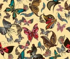 蝴蝶花纹背景图片