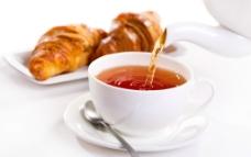 早茶羊角面包图片