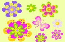 简约蝴蝶花朵图片