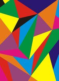 抽象三角形背景块状做包图案图片