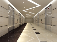 电梯过道效果图