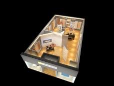 房间室内设计3D模型
