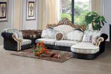 现代室内沙发背景