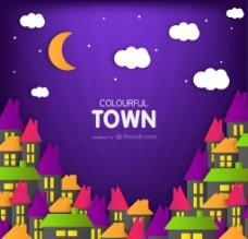 彩色小镇图片