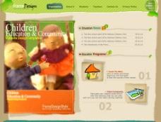 韩国儿童游乐场网站首页设计图片