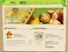 韩国儿童游乐场网站子页设计图片