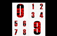 数字字体设计图片