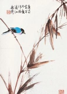 金秋翠鸟图图片