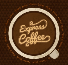 复古浓咖啡背景矢量素材