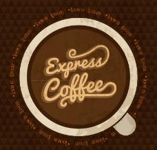 复古浓咖啡背景