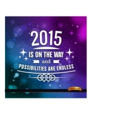 创意2015祝福海报图片
