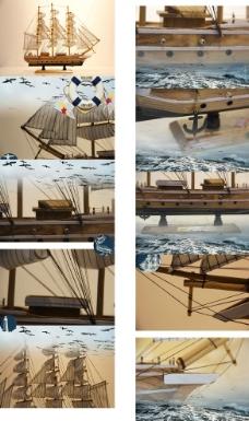 帆船摆件图片