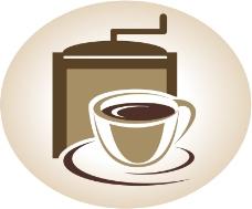 复古研磨咖啡背景矢量素材