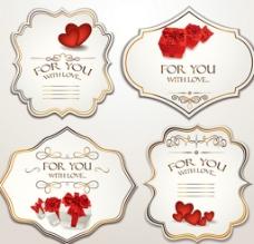玫瑰花卡片 标签 吊牌 贺卡图片
