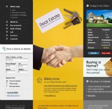 欧美房地产网页模板图片