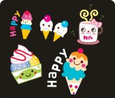 卡通冰淇淋图片