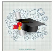 博士帽与毕业证书免费下载图片