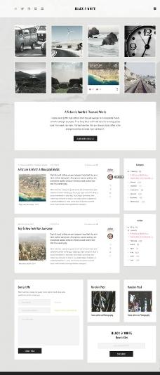 黑色简洁风格网页模板图片