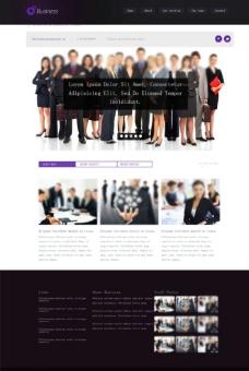紫色风格商务模板图片