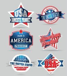 美国国旗标签图片