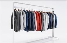 晾衣服3D模型素材
