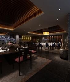 3D艺术中式餐厅