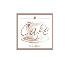 复古方形手绘咖啡标签