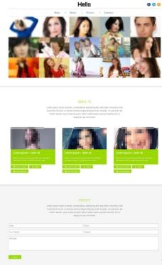 摄影照片展示网页模板图片