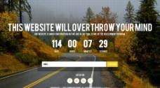 公路背景倒计时网站图片