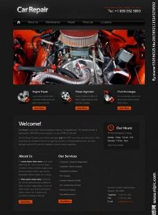 发动机维修企业网站图片