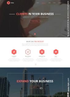 国外设计公司网站模板图片