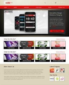 手机产品介绍网站模板图片