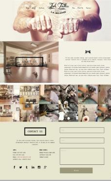 时尚纹身艺术网站模板图片