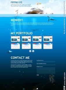 海洋世界旅游网站模板图片