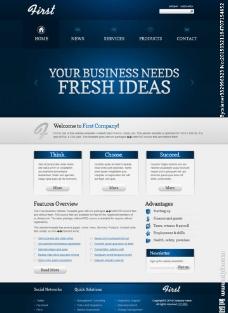 商务投资咨询企业模板图片