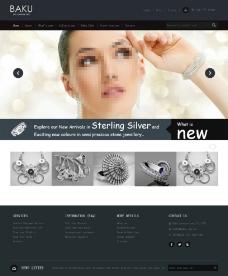 珠宝首饰网站模板图片