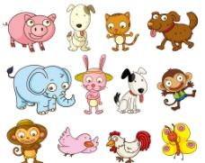 卡通动物图片